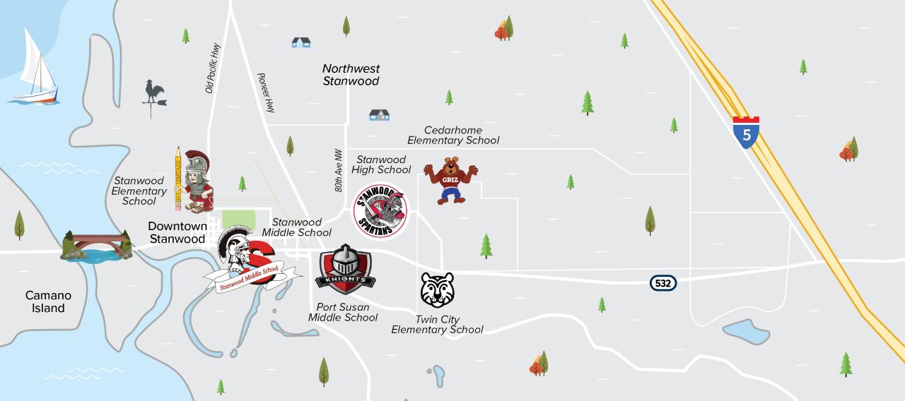 stanwood schools map